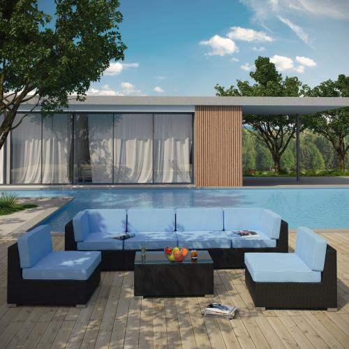 Aero 7 Piece Outdoor Patio Sectional Set