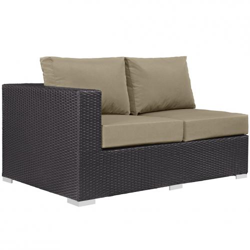 Convene Outdoor Patio Left Arm Loveseat
