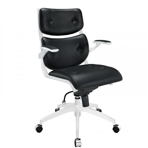 Push Mid Back Management Office Chair