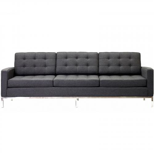 Florence Knoll Style Sofa Couch - Wool