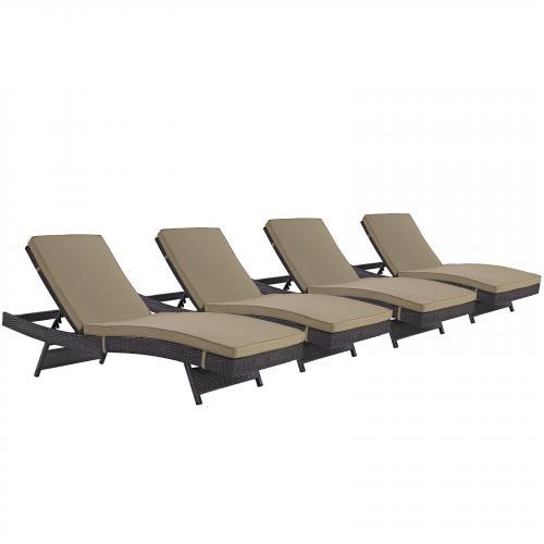 Convene Chaise Outdoor Patio Set of 4