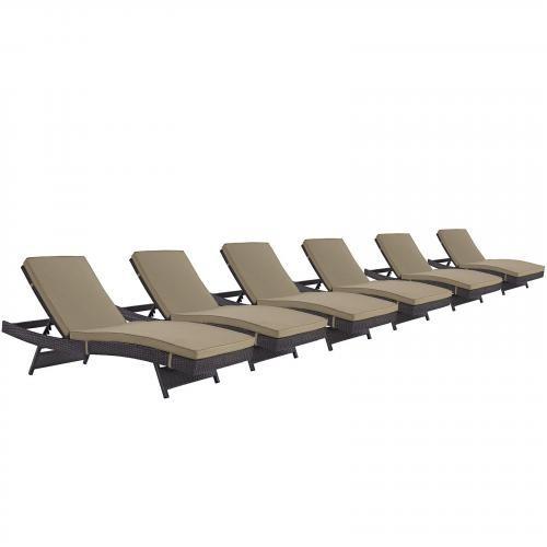 Convene Chaise Outdoor Patio Set of 6