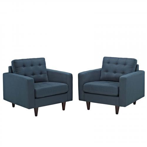 Empress Armchair Upholstered Set of 2