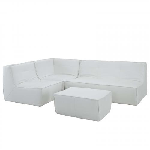 Align Bonded Leather Sectional Sofa Set - 4 Piece