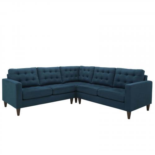 Empress 3 Piece Fabric Sectional Sofa Set