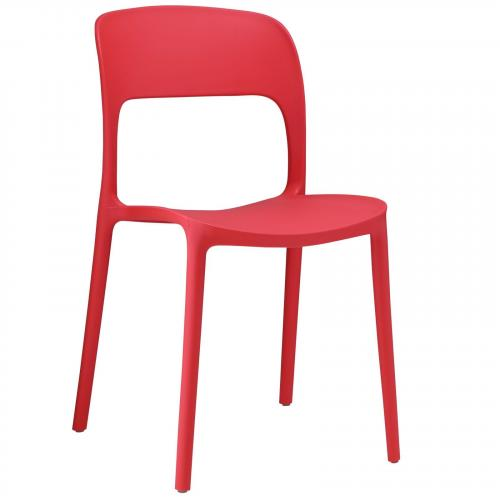 Hop Dining Side Chair in Red