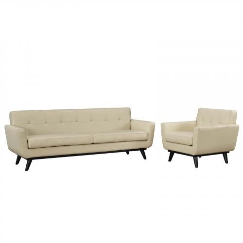 Engage Leather Living Room Set - 2 Piece