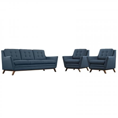 Beguile Fabric Living Room Set - 3 Piece