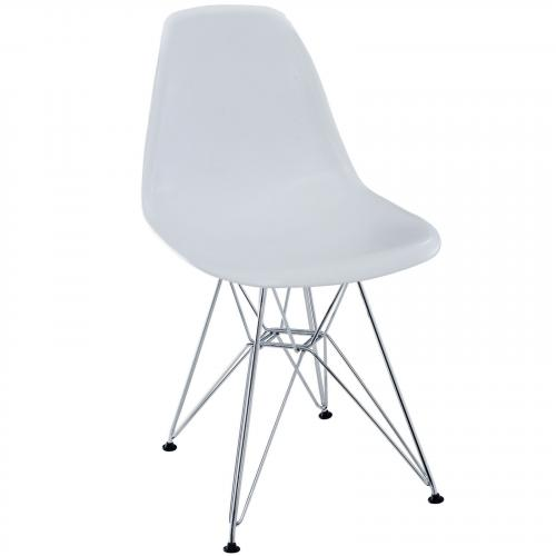 DSR Paris Plastic Dining Side Chair Wired Base