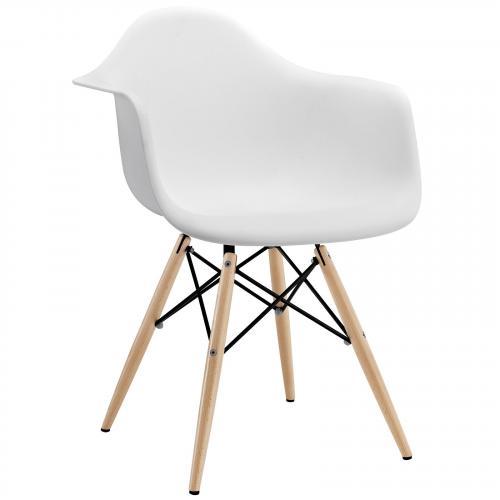 DAW Pyramid Dining Arm Chair Dowel Legs