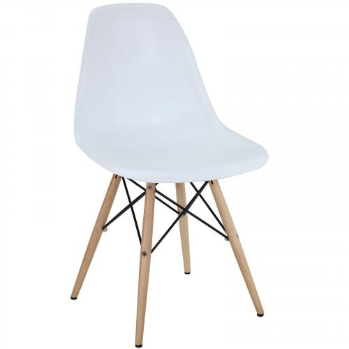 DSW Dining Side Chair Wood Base Dowel Legs
