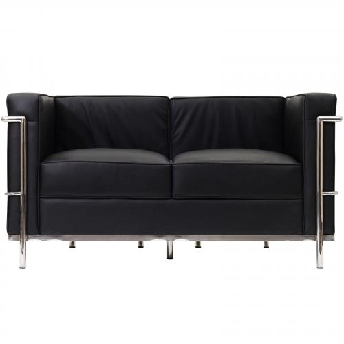 Le Corbusier Style LC2 Loveseat - Leather