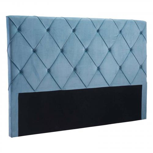 Matias Headboard King Blue Velvet
