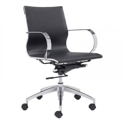 Glider Low Back Office Chair Black