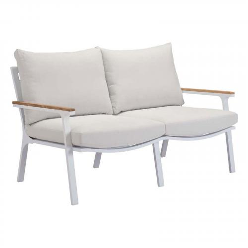 Maya Beach Sofa Gray, Natural & White