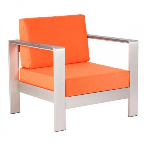 Cosmopolitan Arm Chair Cushion in Orange