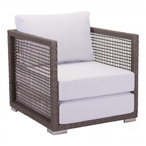 Coronado Arm Chair Cocoa & Light Gray