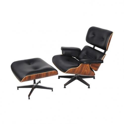 Eames Style Lounge Chair & Ottoman Replica