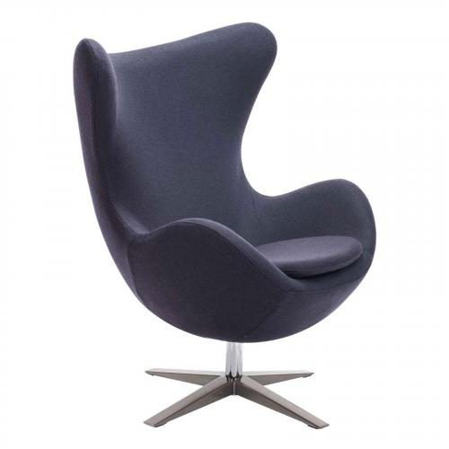 Skien Arm Chair in Iron Gray