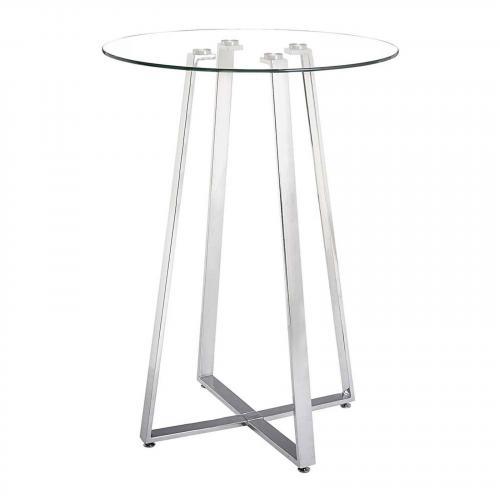 Lemon Drop Bar Table Chrome