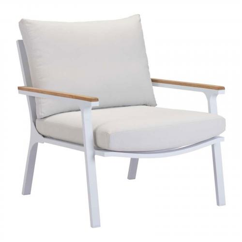 Maya Beach Arm Chair Natural & White