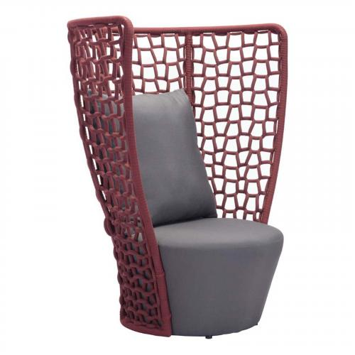 Faye Bay Beach Chair Cranberry & Gray