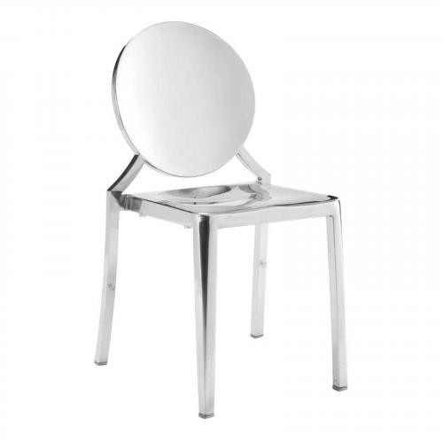 Eclispe Dining Chair in Stainless Steel Set of 2