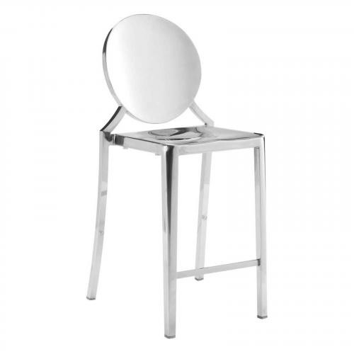 Eclispe Counter Chair Stainless Steel Set of 2