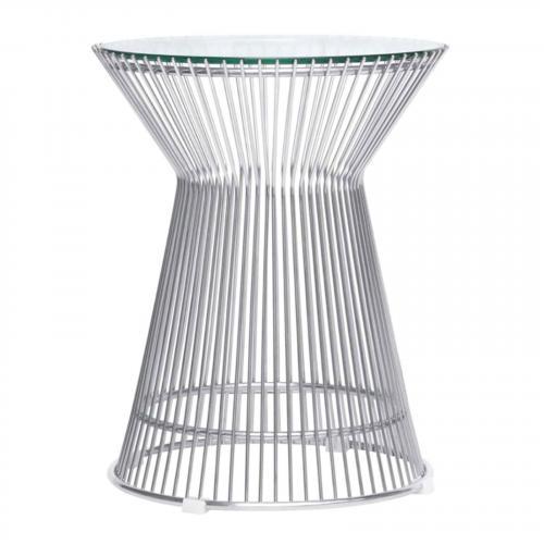 Platner Side Table, Glass