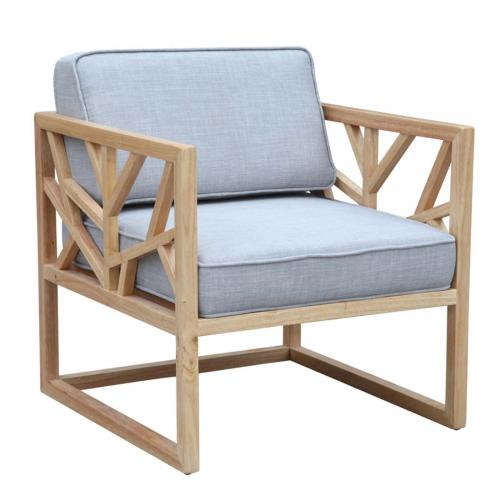 Silent Oak Wood Chair, Gray