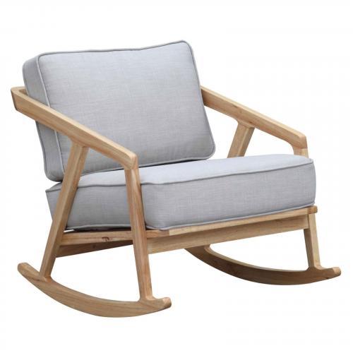 Solo Rocker Arm Chair, Gray