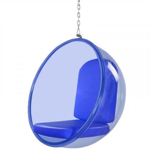 Bubble Hanging Chair Blue Acrylic in Blue