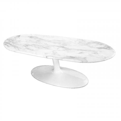 Squaval Marble Coffee Table, White