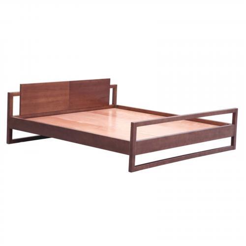 Sort Wooden Bed, Walnut