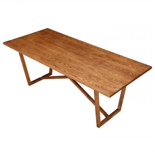 Tricolor Dining Table, Walnut