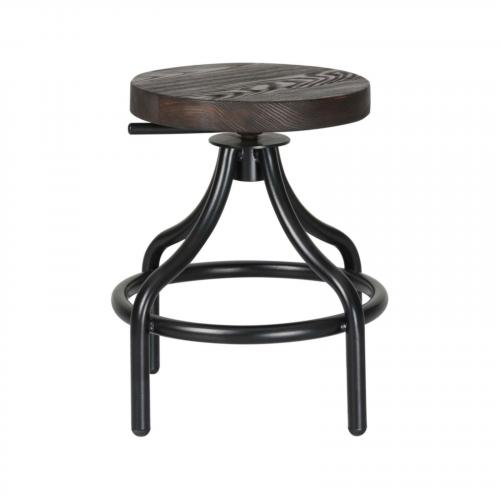 Alta Wooden Stool, Walnut