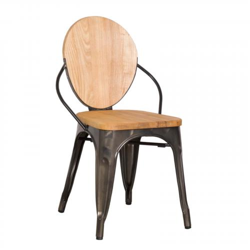 Metal Wooden Dining Chair