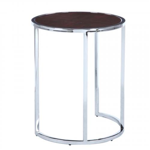 Chin Wood Veneer Side Table, Walnut