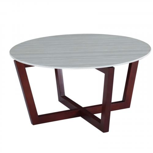 Cross Marble Coffee Table, Cherry