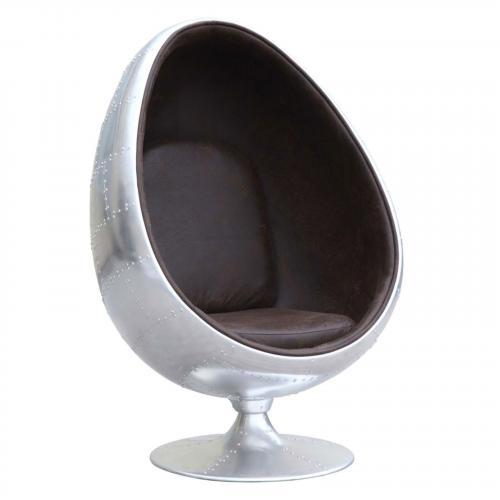 Restro Aluminum Chair, Brown