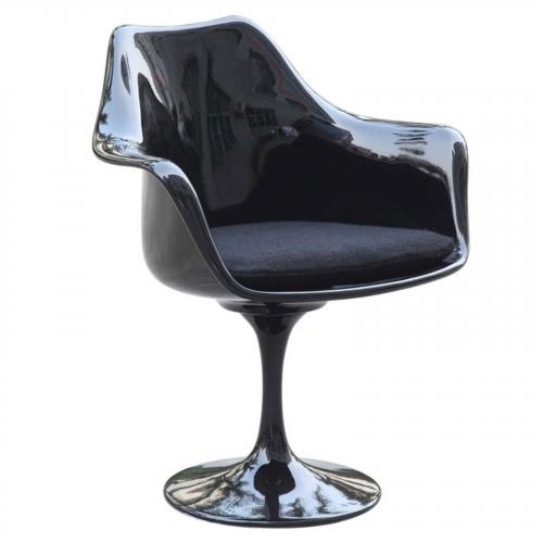 Flower Aluminum Dining Arm Chair