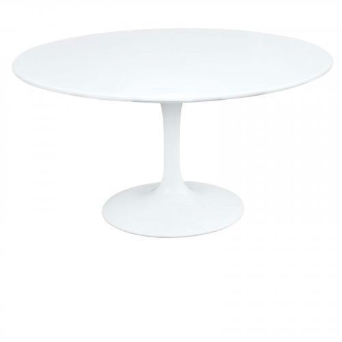 """Flower 60"""" Fiberglass Table, White"""