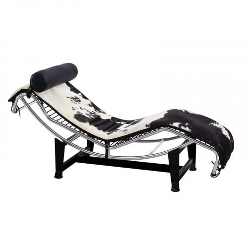 Adjustable Chaise in Pony and White