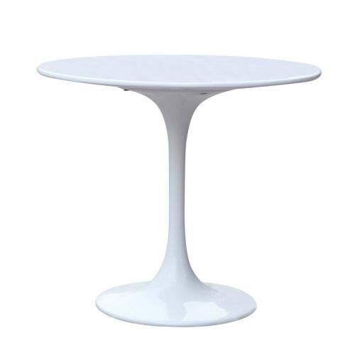 Flower End Side Table, White