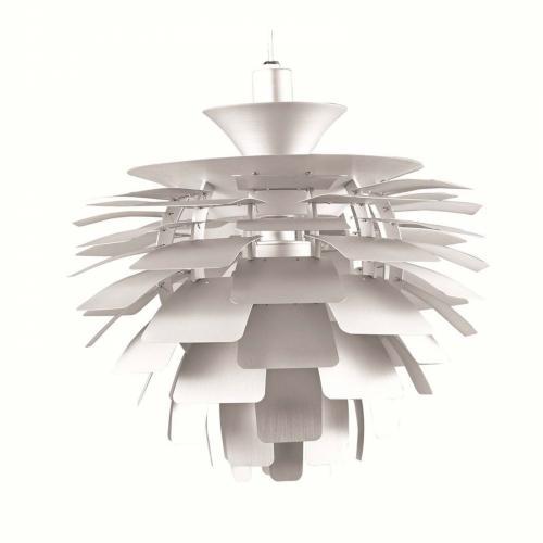 Artichoke Aluminum Leaf Lamp