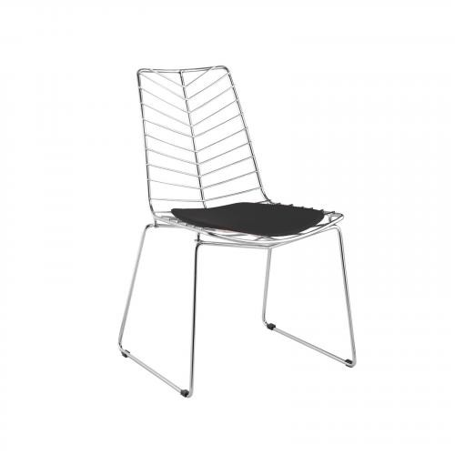 Wire Leaf Dining Chair