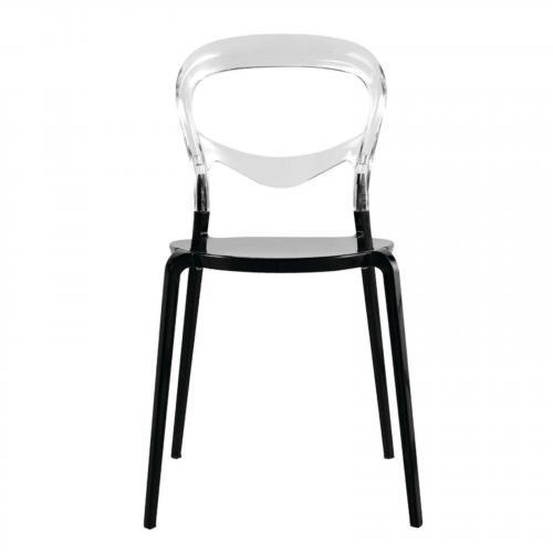 Evo Acrylic Dining Side Chair, Transparent