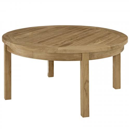 Marina Outdoor Patio Teak Round Coffee Table