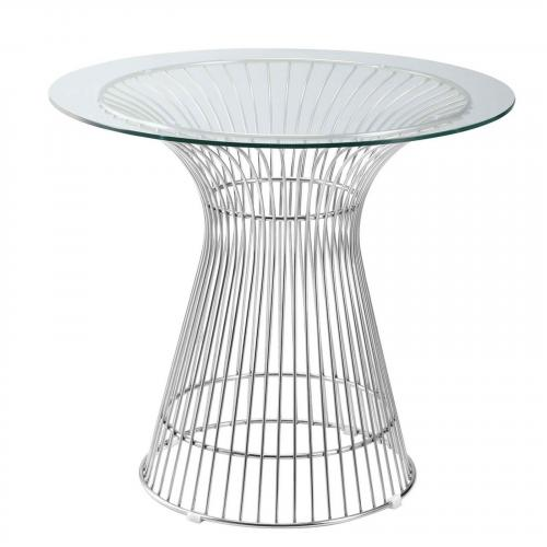"""Libo 42"""" Dining Table, Clear"""