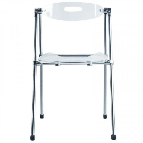 Acrylic Folding Dining Chair, Clear